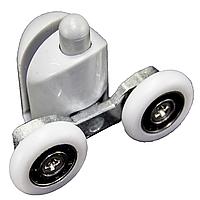 Ролик для душевой кабины, гидробокса двойной, нижний, нажимной, серый (CKLB43D)