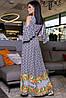 Женское длинное платье с разрезом (3452-3451-3453 svt), фото 4