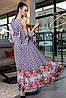 Женское длинное платье с разрезом (3452-3451-3453 svt), фото 3