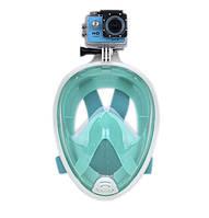 Инновационная маска для снорклинга подводного плавания Easybreath / Маска для ныряния Артикул 777-1