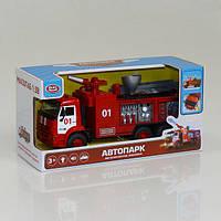 Машина 9624-А модель Пожарная машина брызгает водой, свет, звук