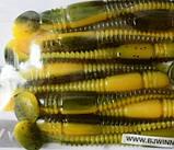 Силиконовая приманка съедобная Flat Worm (Червь Плоский), TBR-016, цвет 034, 10шт., фото 5
