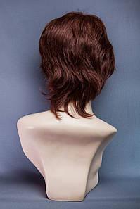 Натуральный парик № 16, Цвет каштановый с красным оттенком