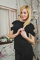 Блуза женская летняя черная, фото 1
