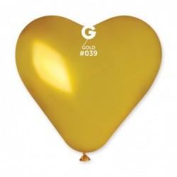 Кульки серце велике 44 см різнокольорові, 10 шт
