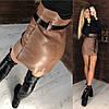 Крутейшая юбка из самой качественной эко кожи.  Размер: С,М.  Цвета разные (6370), фото 8