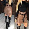 Крутейшая юбка из самой качественной эко кожи.  Размер: С,М.  Цвета разные (6370), фото 9