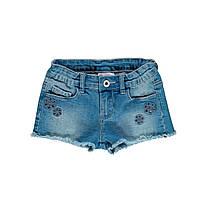 Эластичные джинсовые шорты для девочки Brums 191BGBL003 синие 140-170