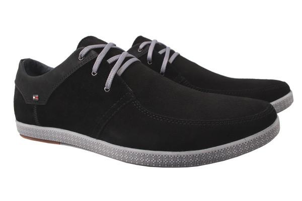 Туфли комфорт Golovin натуральная замша, цвет черный