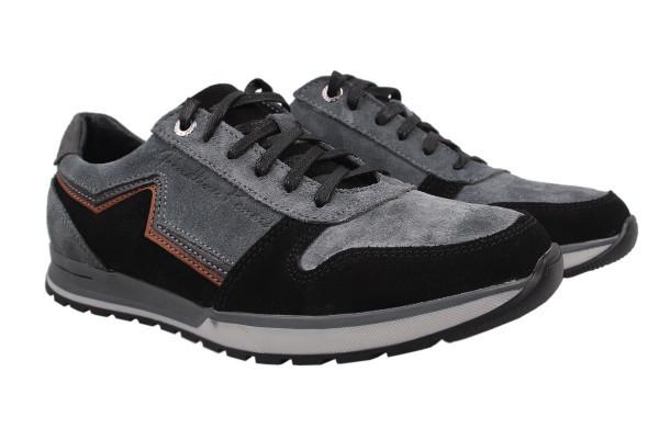 Туфли спорт Konors натуральная замша, цвет серый