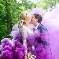 Фиолетовый дым для фотосессии, Цветной дым Maxsem, фіолетовий дим (Средняя насыщенность)