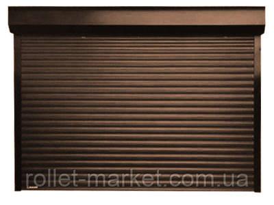Роллетные ворота для гаража Aluproff 77 мм с автоматическим управлением