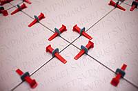 Система выравнивания (укладки) плитки СВП NOVA. Плитка Кафель 200 клиньев + 500 зажимов 1 мм.