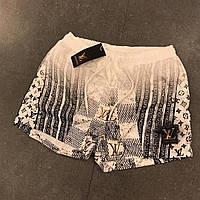 Спортивные мужские шорты Louis Vuitton белые (реплика)