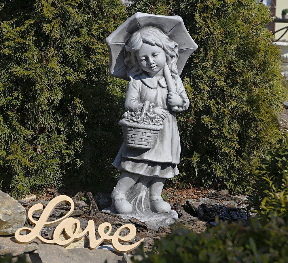 Садовая фигура для сада Девочка с зонтом 30x24x66 cm