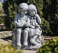Садовая фигура Читающие мальчик и девочка серый 37.5×28.5×53.5 cm