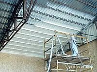 Напыление ППУ. Пенополиуретан - теплоизоляция напылением стен и перекрытий зданий. Пінополіуретан