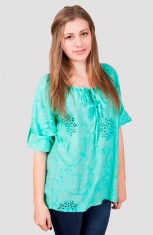 Яркая летняя блуза большого размера материал хлопок