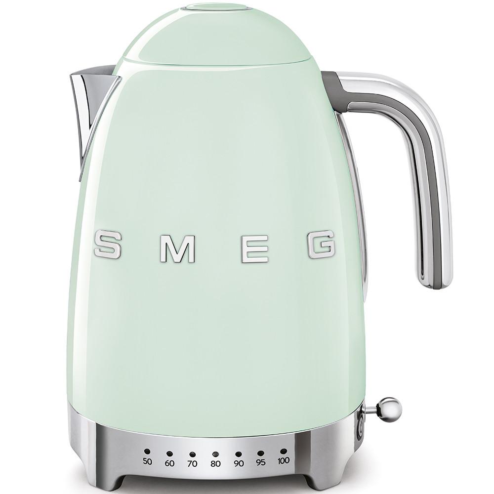 Чайник электрический с регулируемой температурой Smeg KLF04PGEU пастельный зеленый