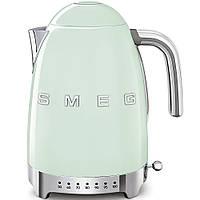 Чайник электрический с регулируемой температурой Smeg KLF04PGEU пастельный зеленый, фото 1