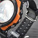 Годинник Skmei 0931, чорний-орнажевая окантовка, в металевому боксі, фото 4