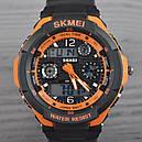 Годинник Skmei 0931, чорний-орнажевая окантовка, в металевому боксі, фото 6