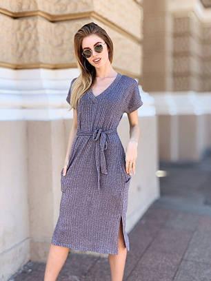30806042b8c Модное трикотажное летнее платье с коротким рукавом - недорого в ...