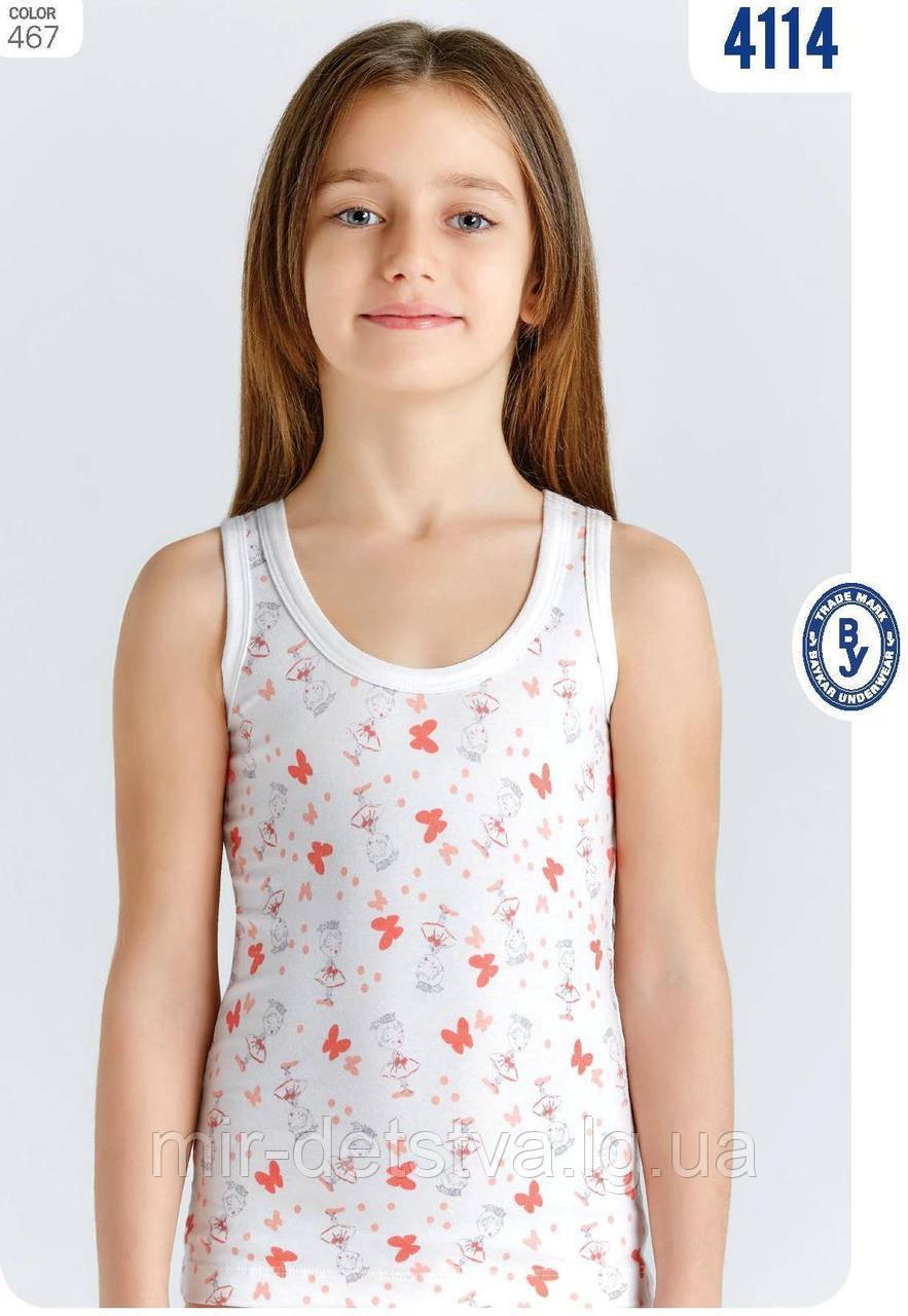 """Майки детские для девочек """"Принцесса бабочка"""" ТМ Baykar, Турция оптом р.1 (98-104 см)"""
