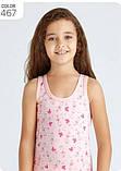 """Майки детские для девочек """"Принцесса бабочка"""" ТМ Baykar, Турция оптом р.1 (98-104 см), фото 3"""