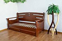 """Диван кровать из массива дерева с ящиками """"Луи Дюпон - 2"""""""