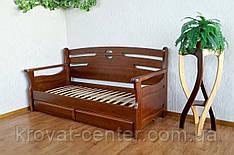"""Диван ліжко з масиву натурального дерева з ящиками """"Луї Дюпон - 2"""""""