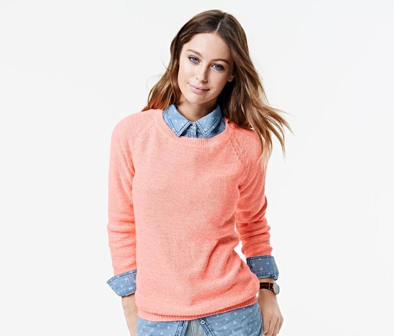 Пуловер розово-бежевый  Tchibo Германия  46/48(UKR)