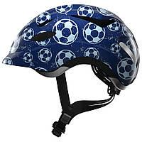 Велосипедный детский шлем ABUS ANUKY M (52-57 см) Blue Soccer 819049