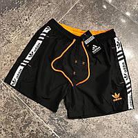Шорты мужские легкие пляжные Adidas black (реплика)