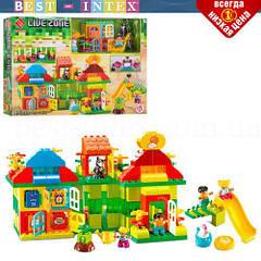 Конструктор 55008 дом с игровой площадкой (175 деталей) LIVE ZONE (аналог LEGO Duplo)