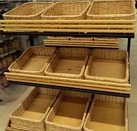 Короба плетеные 45x45х10 торговые