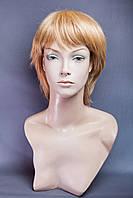 Натуральный парик № 16, Цвет мелирование рыжий золотистый с блондом