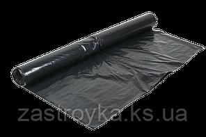Пленка строительная техническая 1500 мм, 80мкм, (вторичка, черная) ПЕТ  Рулоном