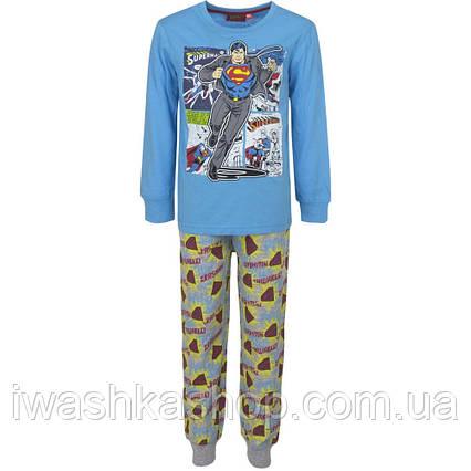 Бавовняна піжама з Суперменом на хлопчика 3 років, р. 98, Sun City / Superman