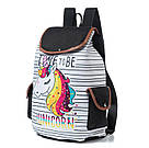 Рюкзак для девочки с единорогом полосатый., фото 2