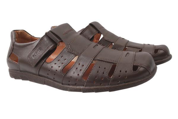 Туфли мужские летные Mida натуральная кожа, цвет коричневый