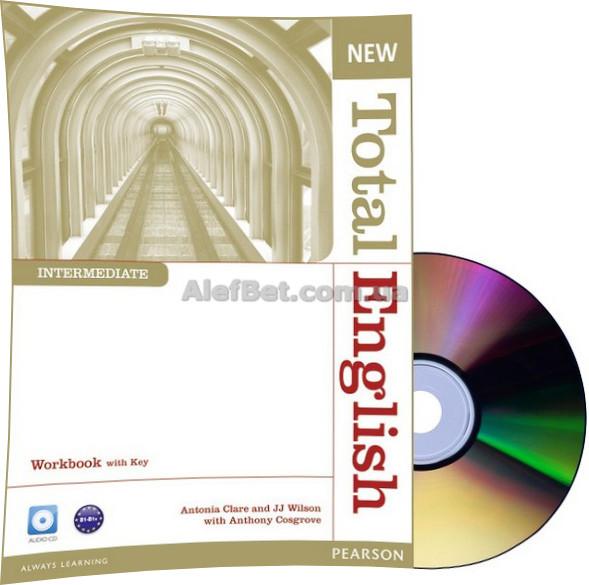 Английский язык / New Total English / Workbook+Key+CD. Тетрадь к учебнику, Intermediate / Pearson