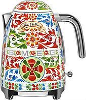 Чайник электрический Smeg KLF03DGEU в стиле D&G Dolce Gabbana, фото 1