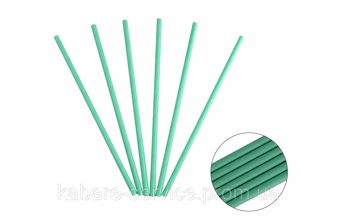 Бумажная трубочка (мята) 20 см 5 мм 25 шт
