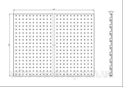 Панельная стенка перфорированная 4560