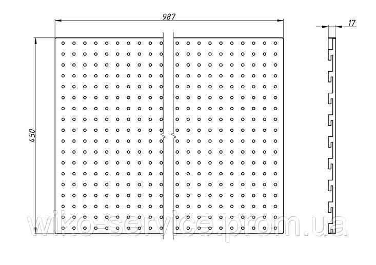 Панельная стенка перфорированная 45100