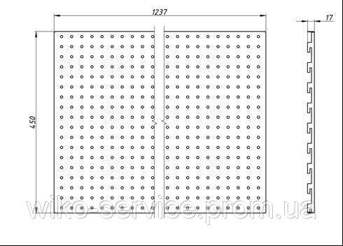 Панельная стенка перфорированная 45125