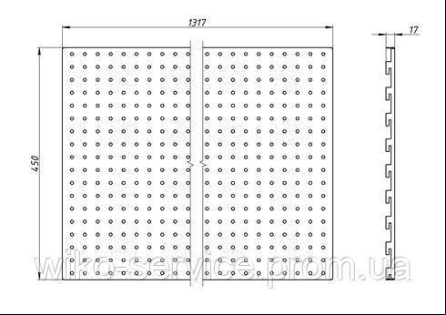 Панельная стенка перфорированная 45133