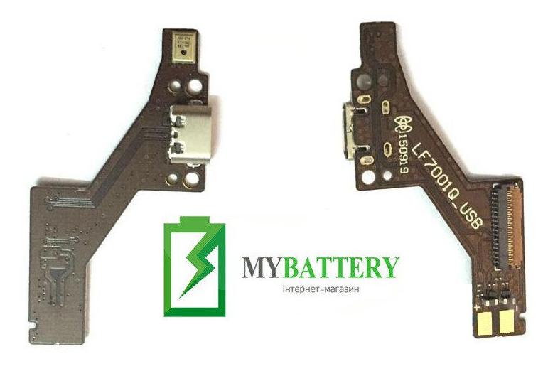 Шлейф (Flat cable) Lenovo PB1-750M Pab с разъемом зарядки, микрофоном