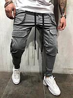 Мужские спортивные штаны серые BRS-5079